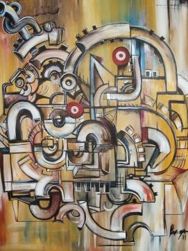 Cantonio lanza..gears of ganesha..acrylic on canv