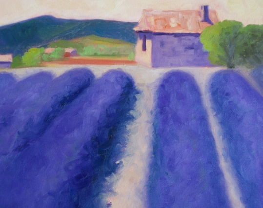 Cl.lamothe french lavender fields. oil.canv.