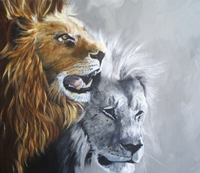 Cl.wallace..two lions..acrylic